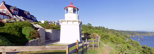 … picture of bed and breakfast and lighthouse and Trinidad Bay