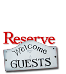 welcome reservation sign